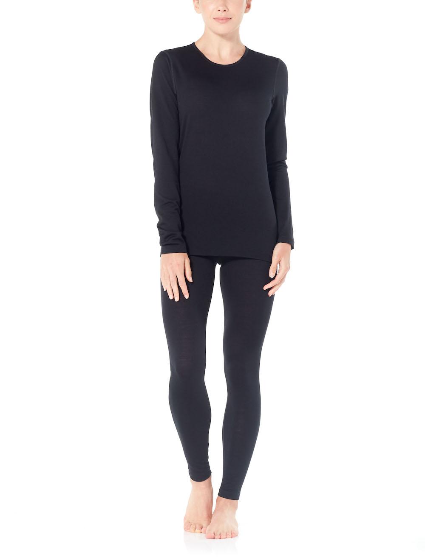 Merino 200 Oasis Langarmshirt Damen Black, Liveansicht 3