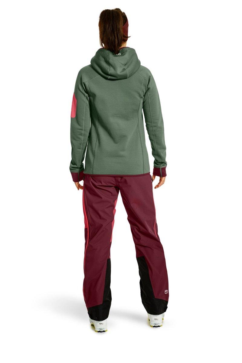 Ortovox - FLEECE PLUS HOODY - warme Merino Fleece-Hoody mit kuscheligem Woll-Strick für Frauen