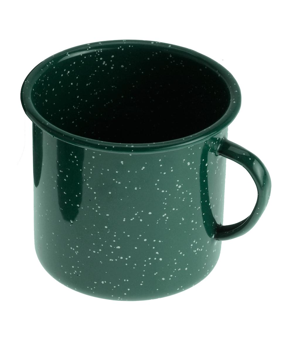 GSI - 12 fl. oz. Cup - grün, Emaille-Tasse