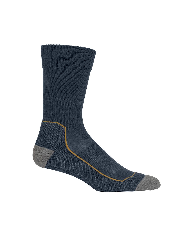 Icebreaker Merino Hike+ Light Crew Socks Herren Serene Blue, Vorderansicht