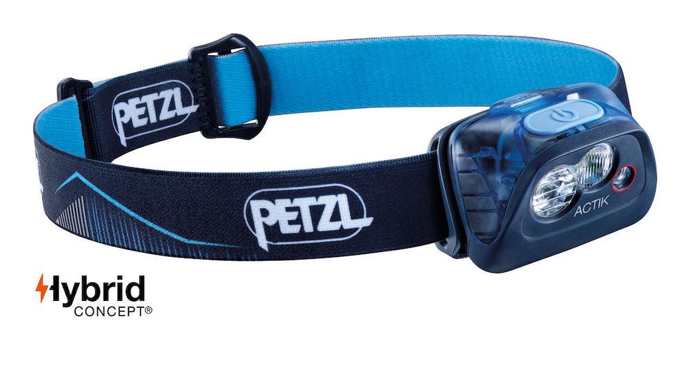 Petzl Actik Stirnlampe, Blau Vorderansicht