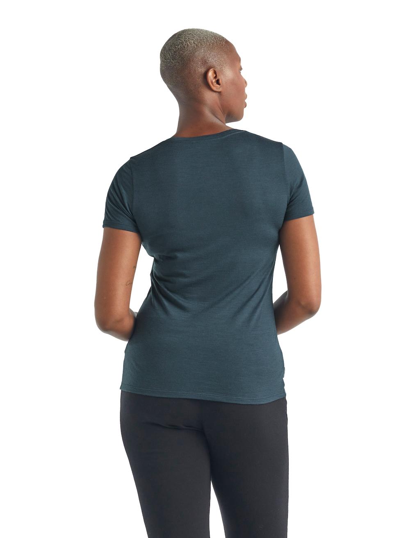 Icebreaker Merino Tech Lite T-Shirt Damen Serene, Lifeansicht 2
