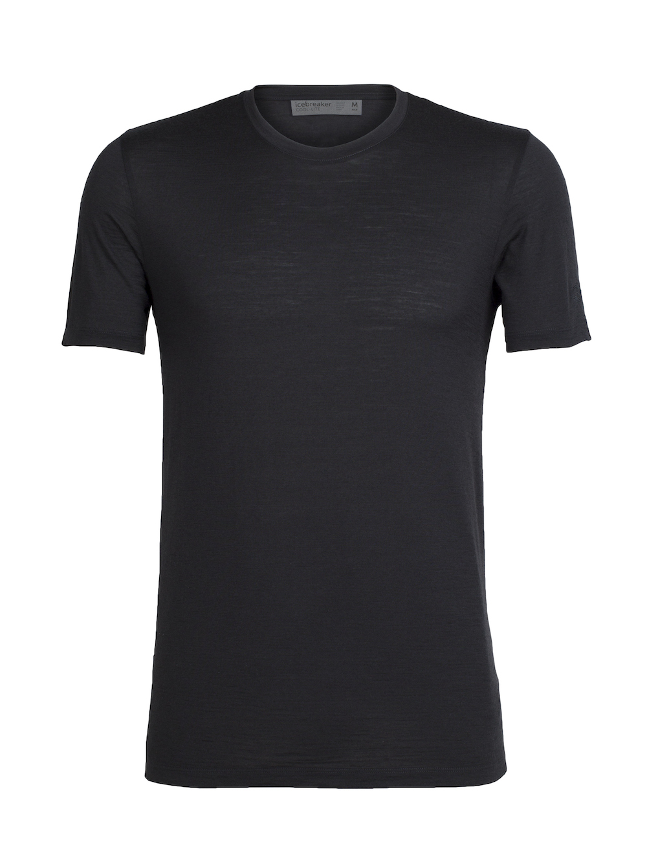 Icebreaker Merino Tech Lite T-Shirt Herren Black, Vorderansicht