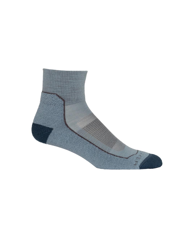 Icebreaker Merino Hike+ Light Mini Socks Damen Gravel, Vorderansicht