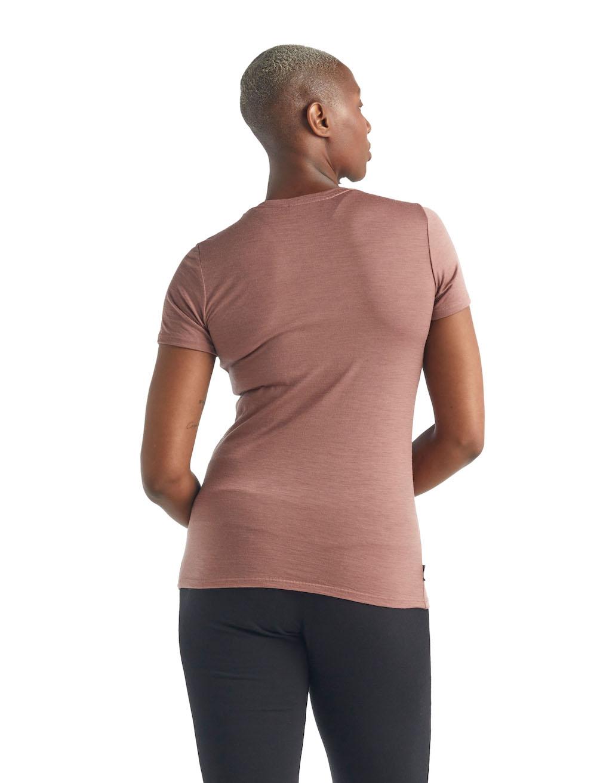 Icebreaker Merino Tech Lite T-Shirt Damen Suede, Lifeansicht 2