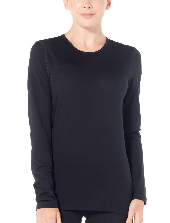 Merino 200 Oasis Langarmshirt Damen Black, Liveansicht 1