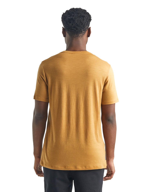 Icebreaker Merino Tech Lite T-Shirt Herren Coyote, Detailansicht 2