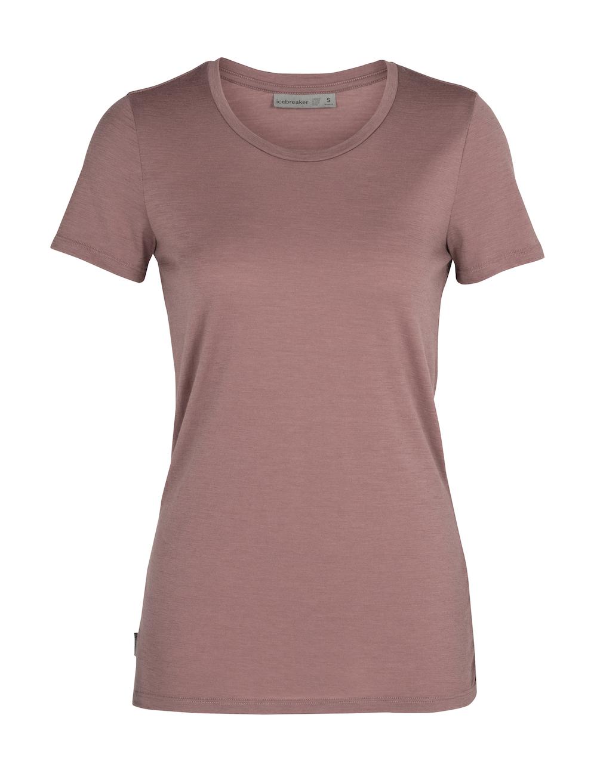 Icebreaker Merino Tech Lite T-Shirt Damen Suede, Vorderansicht