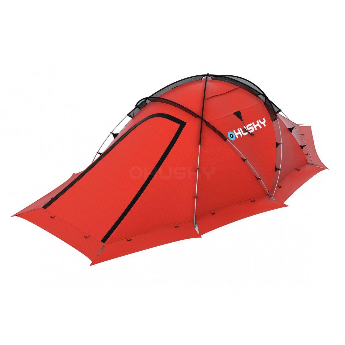 Husky - Fighter 3-4 rot, geodätisches Zelt