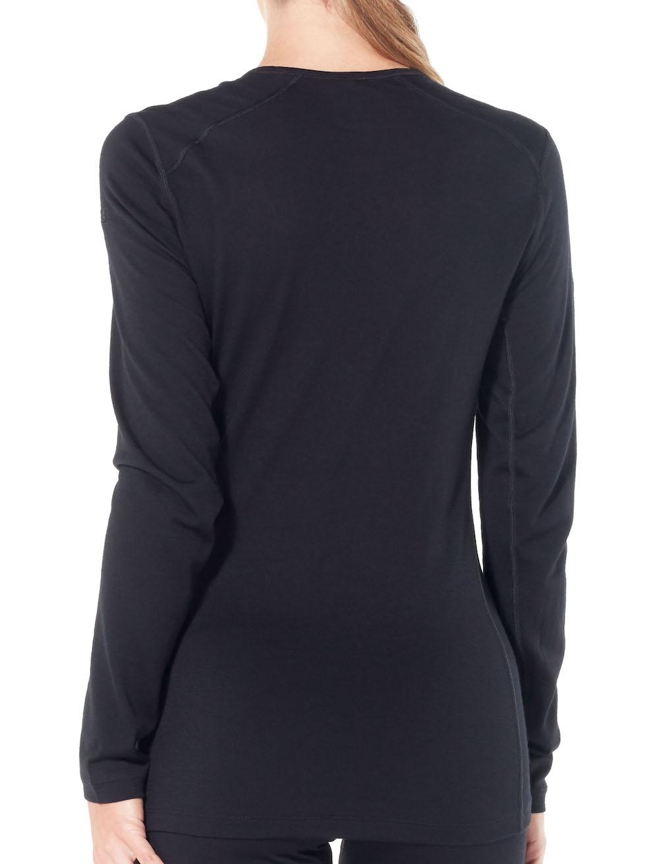 Merino 200 Oasis Langarmshirt Damen Black, Liveansicht 2