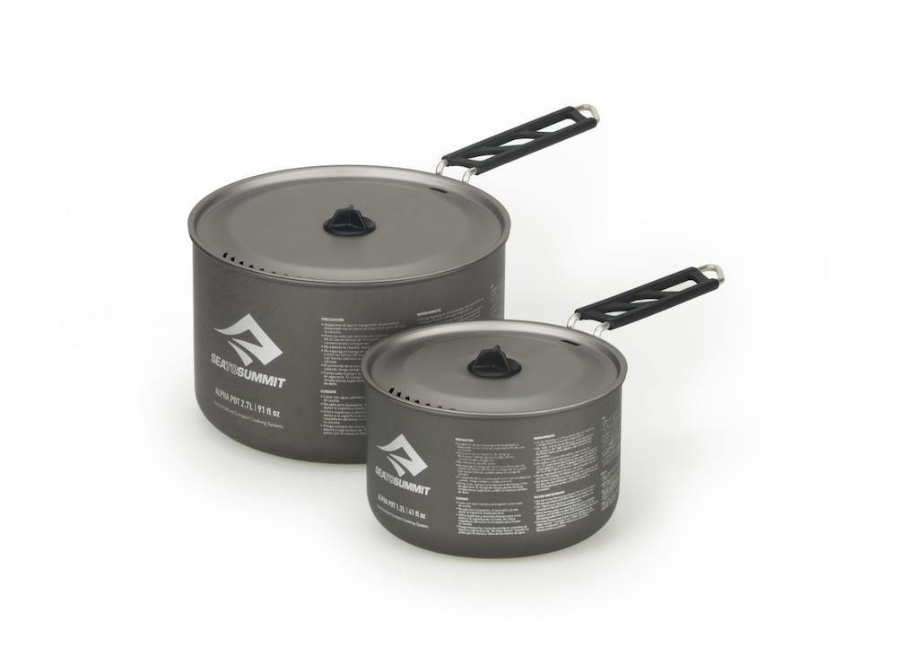 Sea to Summit Alpha Pot Set 2.0 Grey, Vorderansicht